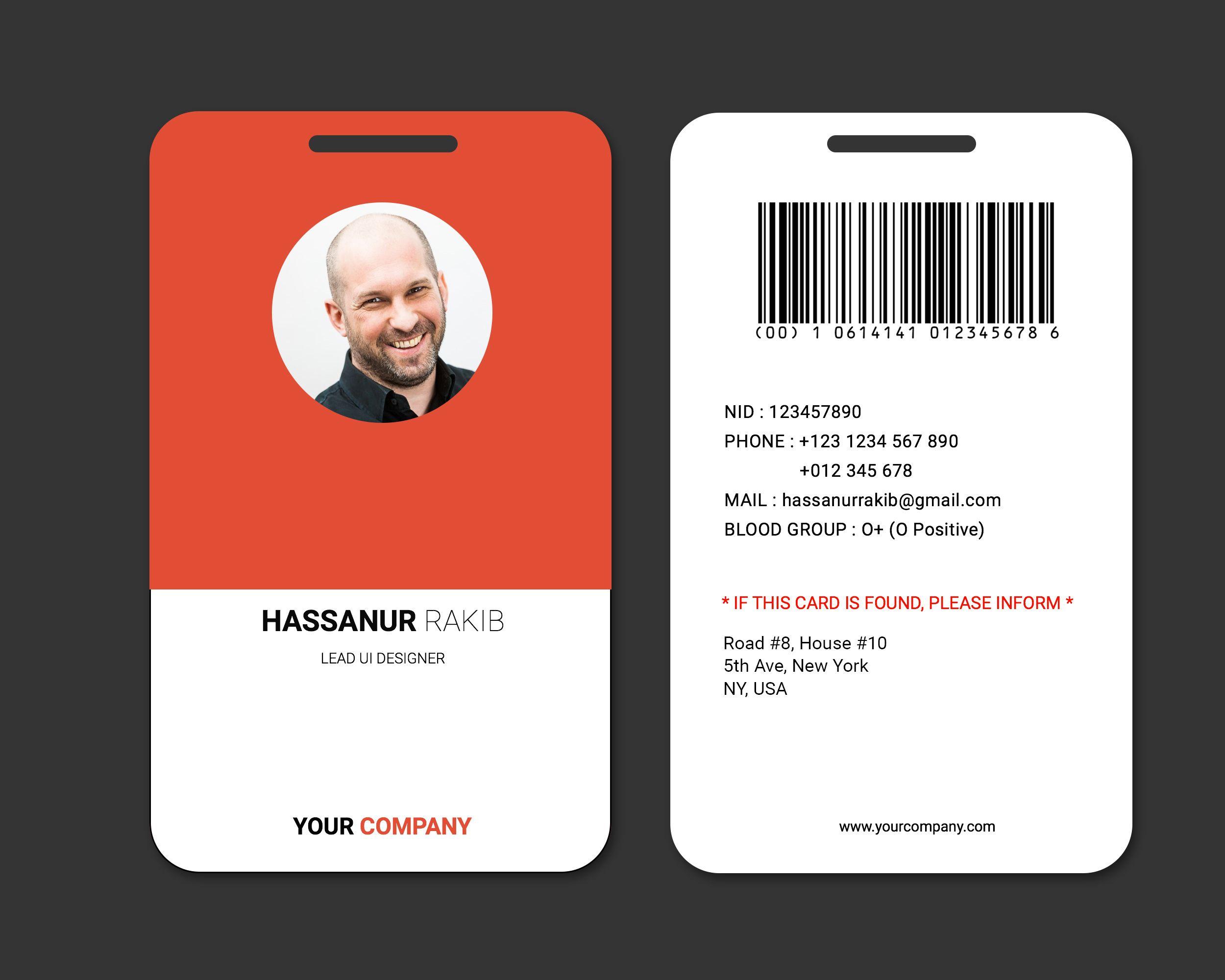 Corporate office badge for employee credenciales de