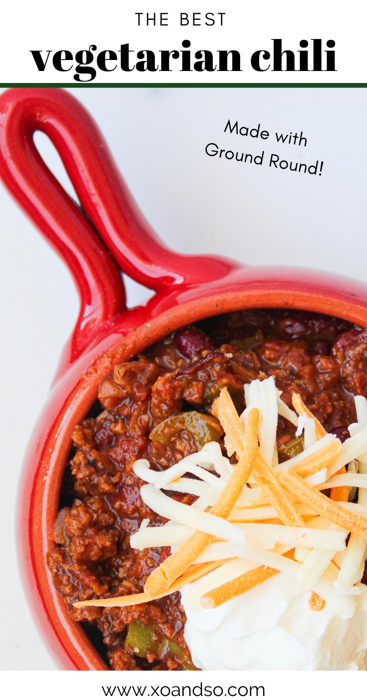 The Best Vegetarian Chili Recipe Meatless Chili Recipe Vegetarian Chili Classic Chili Recipe