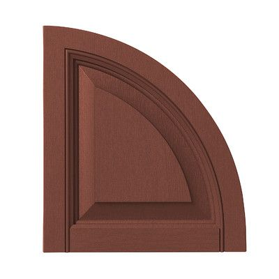 PlyGem Raised Panel Arch Top Color: Red