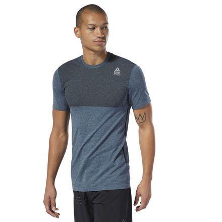 2d0db2e01f Reebok Men's CrossFit® MyoKnit Tee in Blue Hills/Black Size S ...