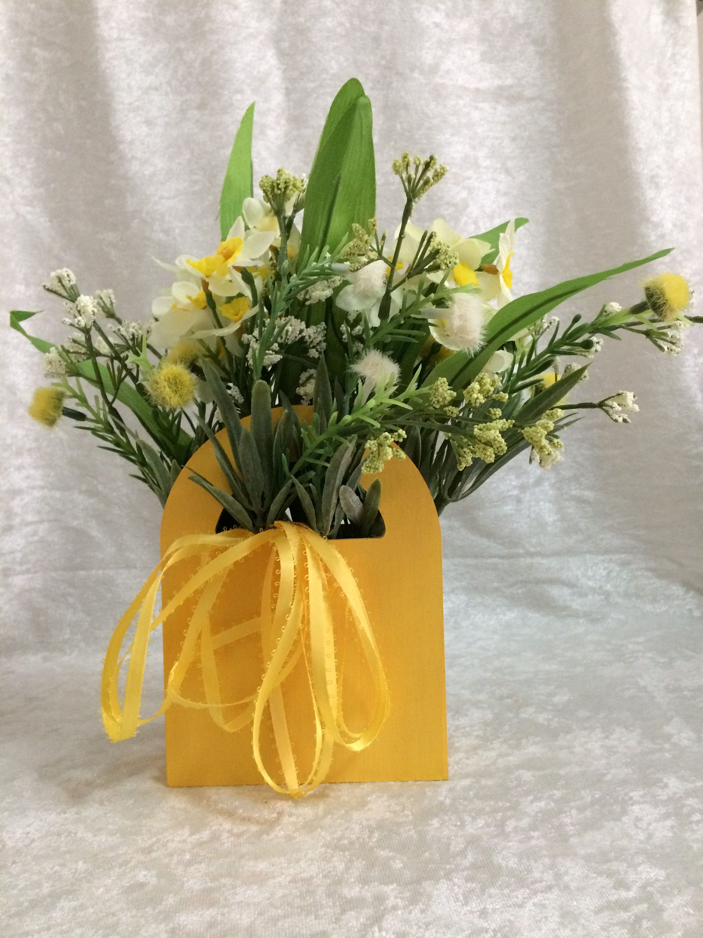 Daffodill flower arrangement silk flower centerpiece artificial daffodill flower arrangement silk flower centerpiece artificial arrangement small silk flower arrangement mightylinksfo
