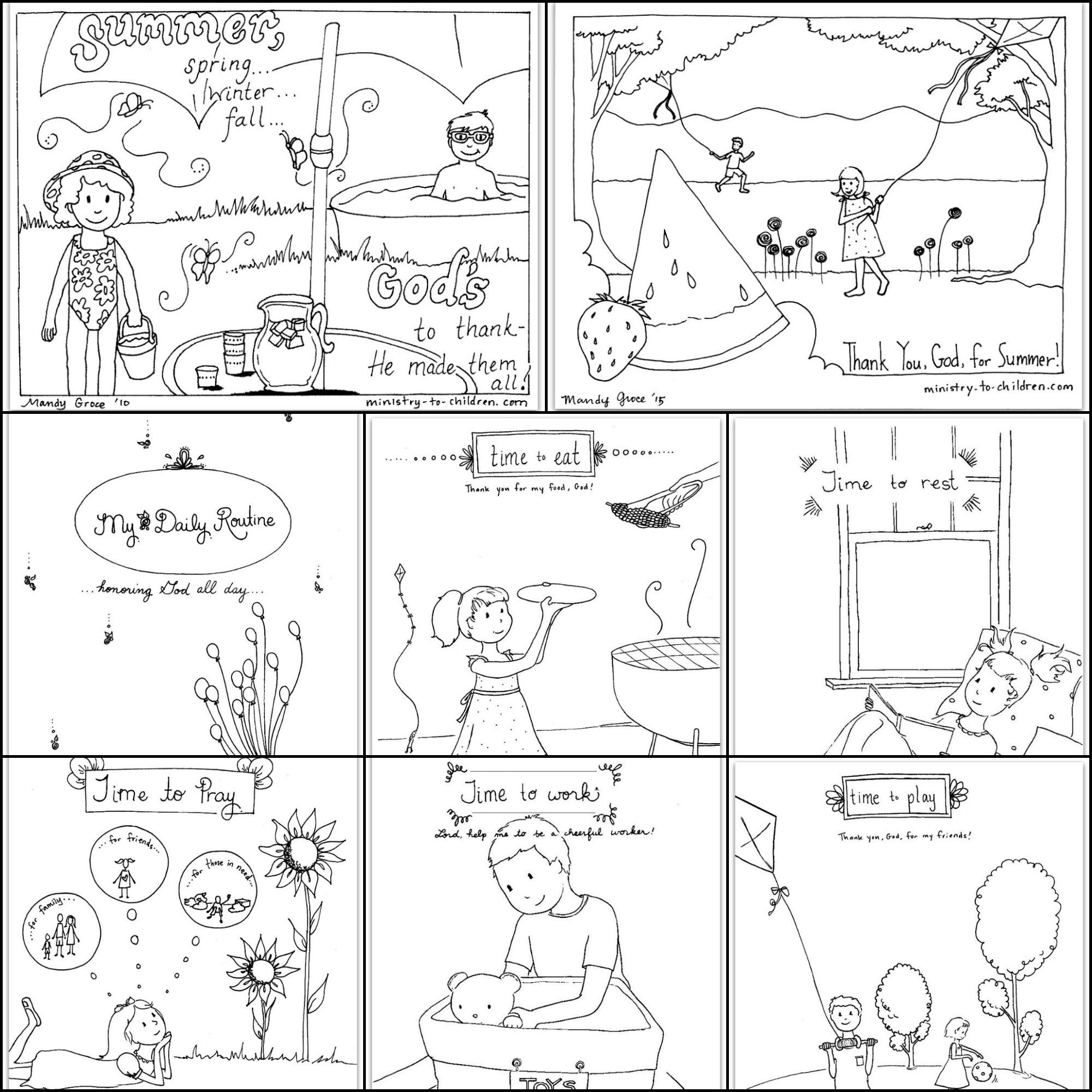 We\'ve combined all the Summer coloring sheets pictured above into ...