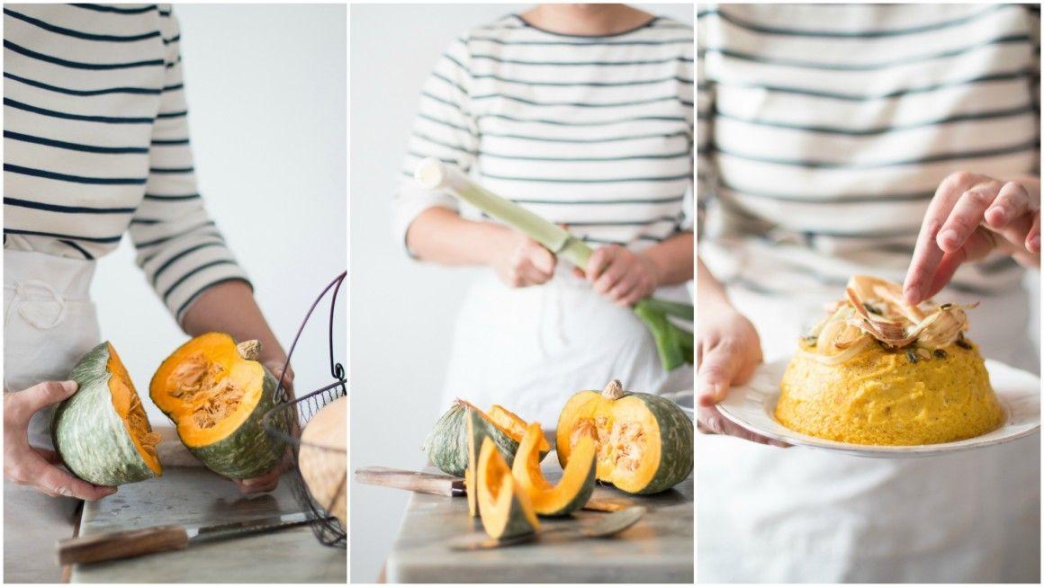 budino di zucca - Pumpkin pudding collage