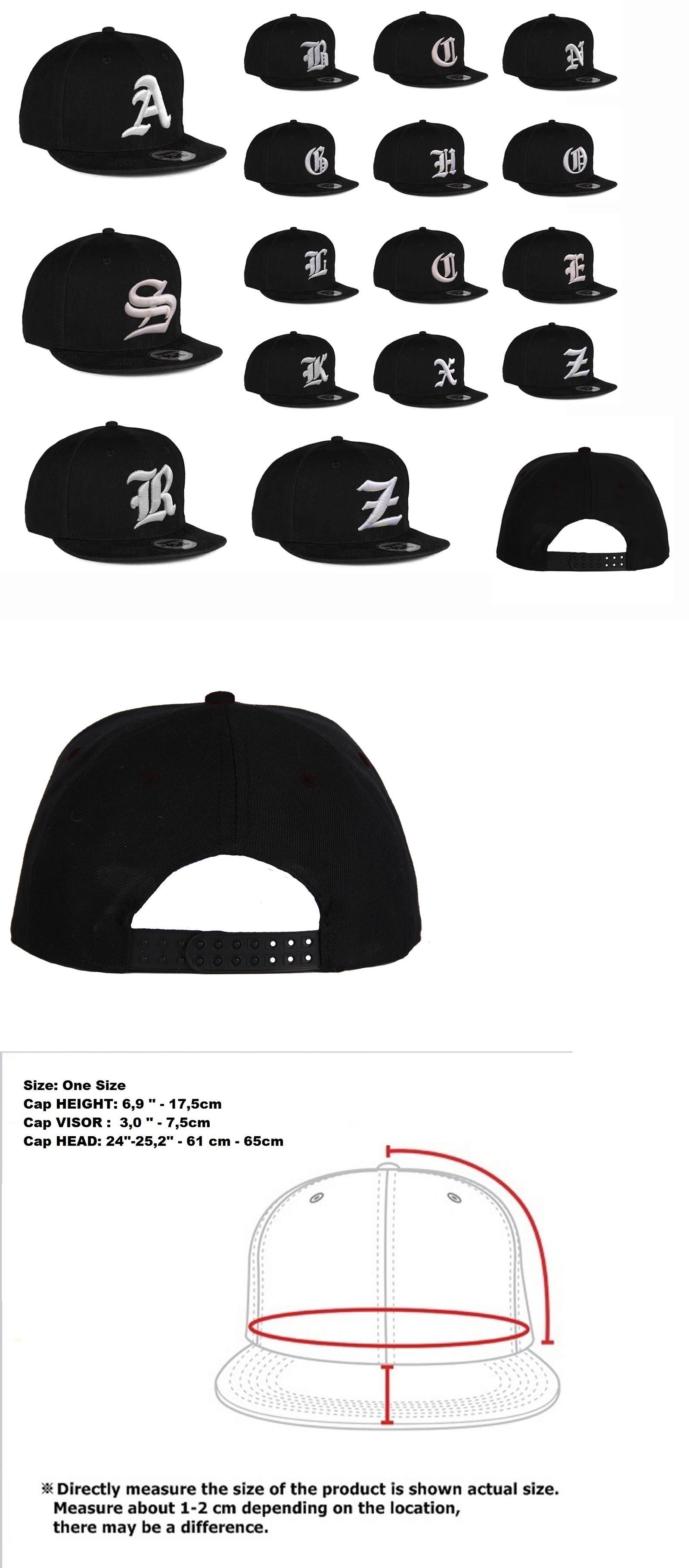 low priced 1ecd1 c633a Hats and Headwear 159057  New Mens Hat Letter A - Z Unisex Black Hats  Baseball