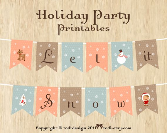 todi: Winter and Christmas Party Printables