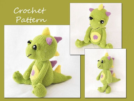 Amigurumi Pattern Crochet, Dragon Crochet Pattern, Animal Crochet Pattern