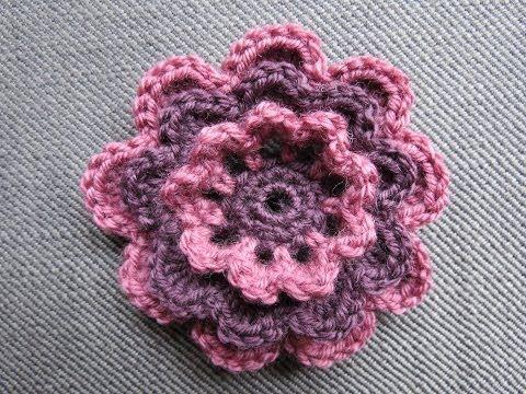 Blume Häkeln Einfach Und Schnell 5 Blätter 3d Blume