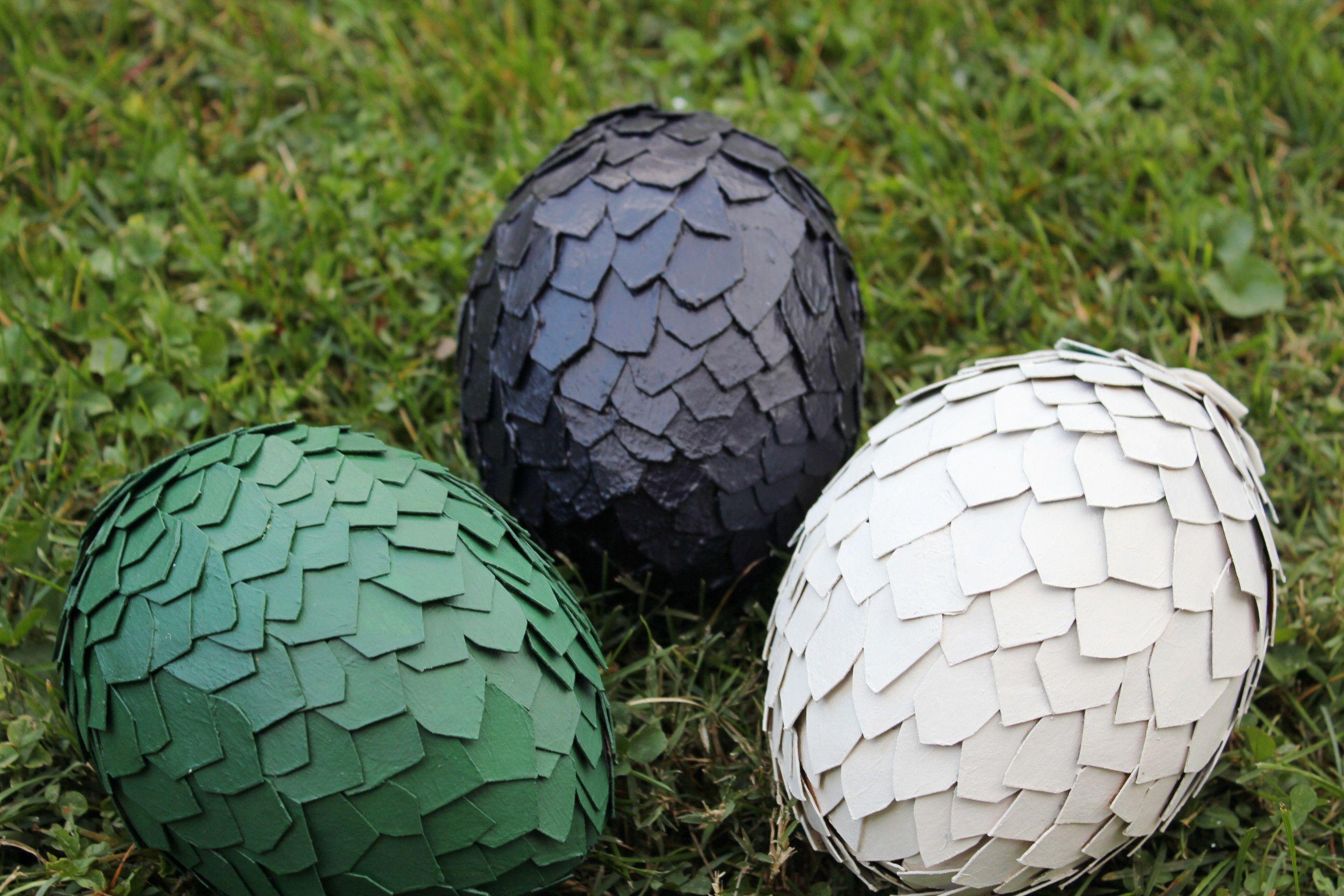 My coconut and cardboard dragon eggs