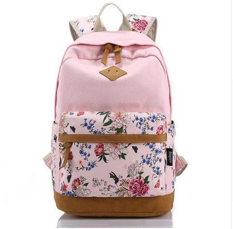 Wilicosh Brand Canvas Bag Backpack School Bag For Teenager Girl Printing Backpack Top Quality Floral Leather Backp Rucksack Madchen Rucksack Damen Buchertasche