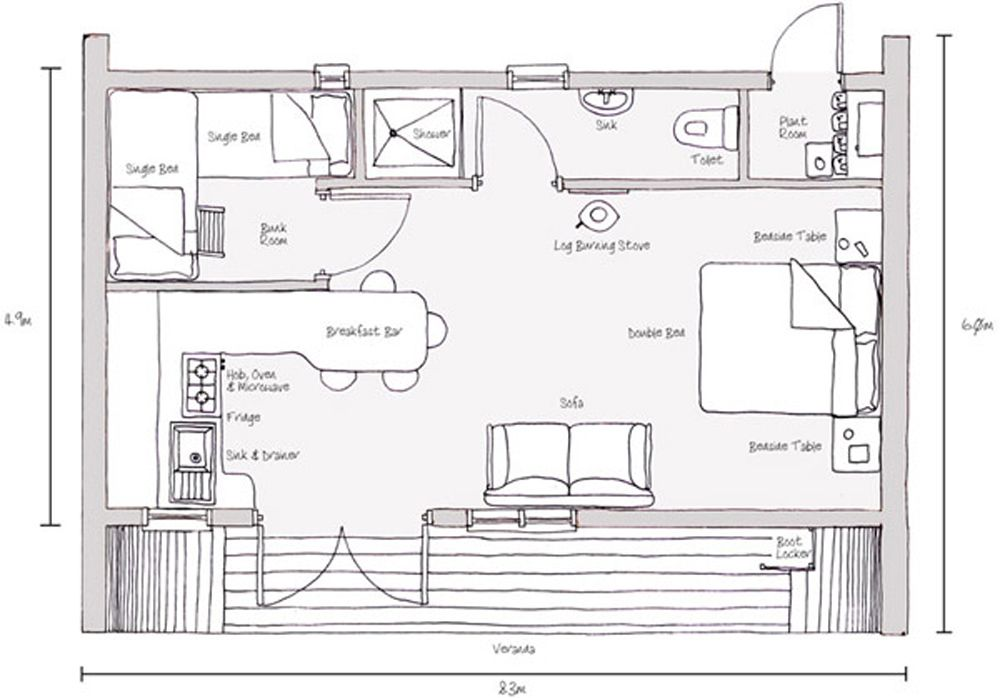 Tree House Plan Eco Perch 1 Floor Plan Sketch House Sketch Plan Tiny House Swoon