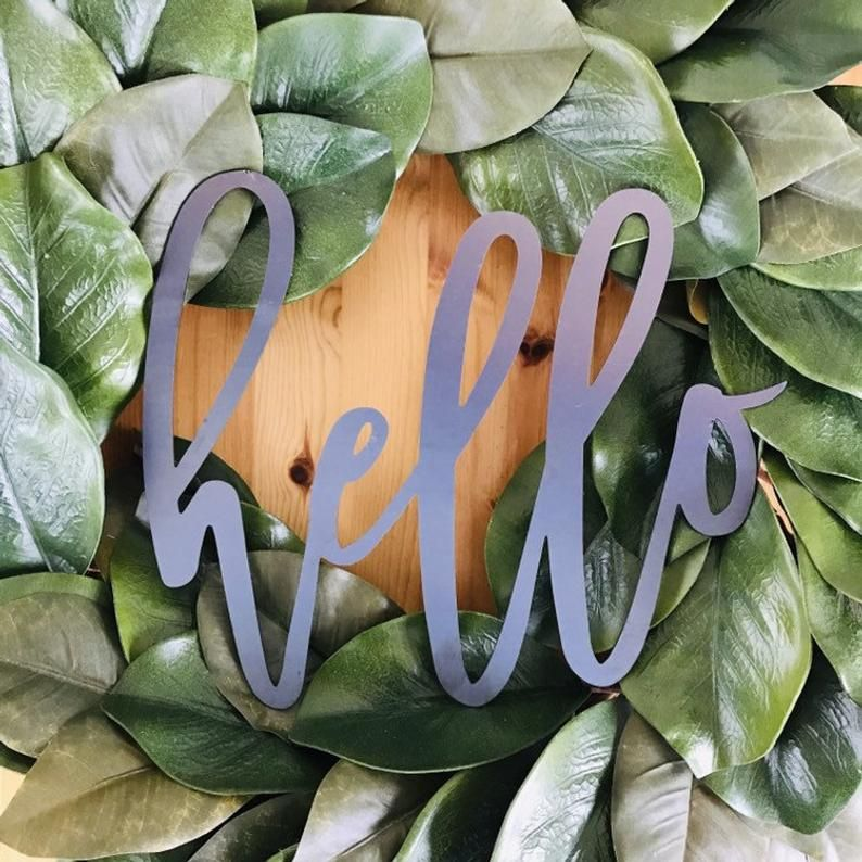 Small Farmhouse Style Hello Sign Rustic Hello Sign Rustic Wall Decor Metal Hello Sign Housewarming Gift Hello Sign Rustic Wall Decor House Warming Gifts
