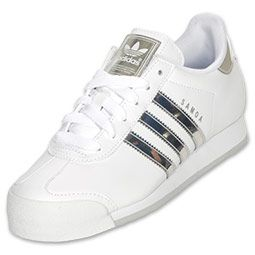 adidas Samoa Women s Casual Shoe White Metallic Silver  8b4d8764520