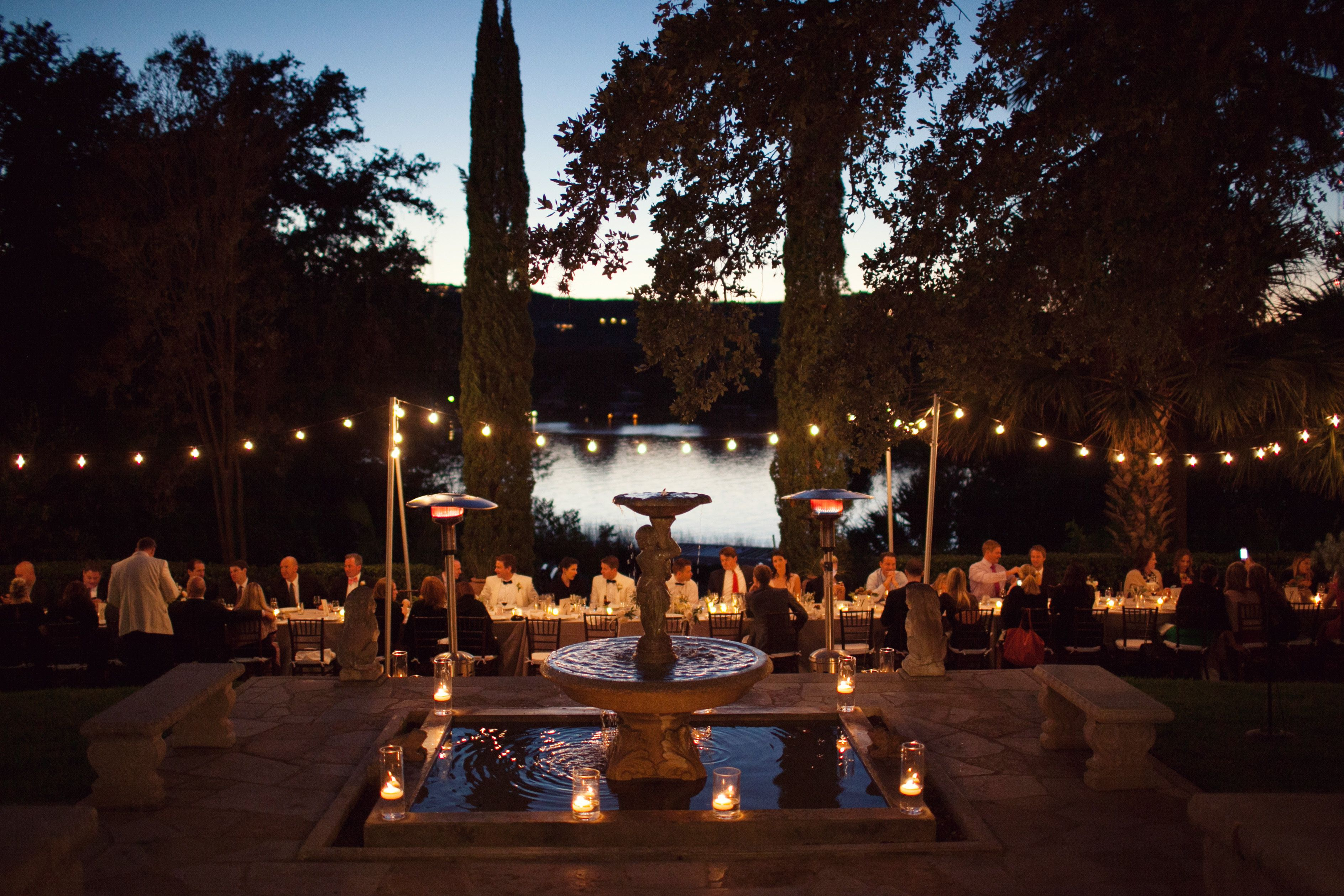 Festoon Lighting. The Nichols Photography. Wedding