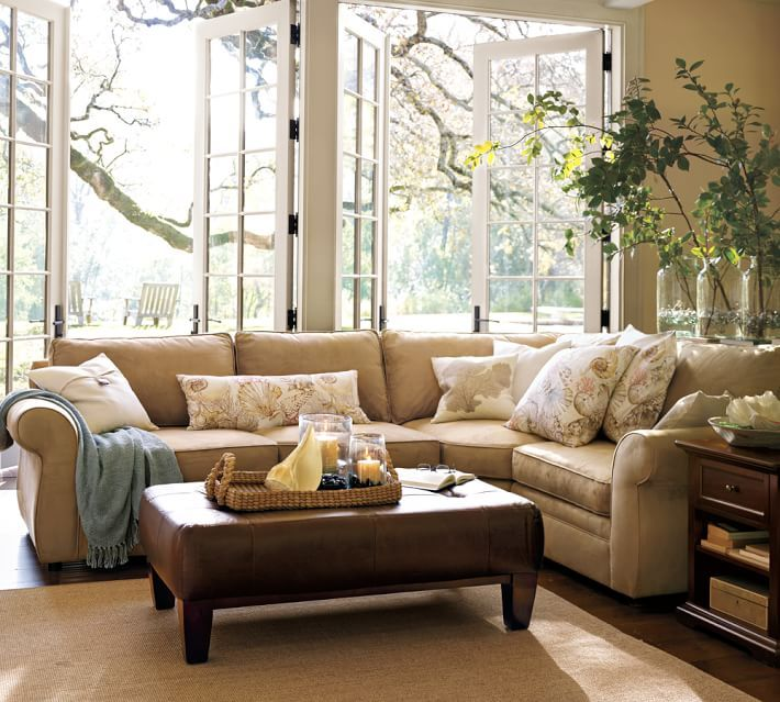 Pearce Sectional With Wedge Pottery Barn