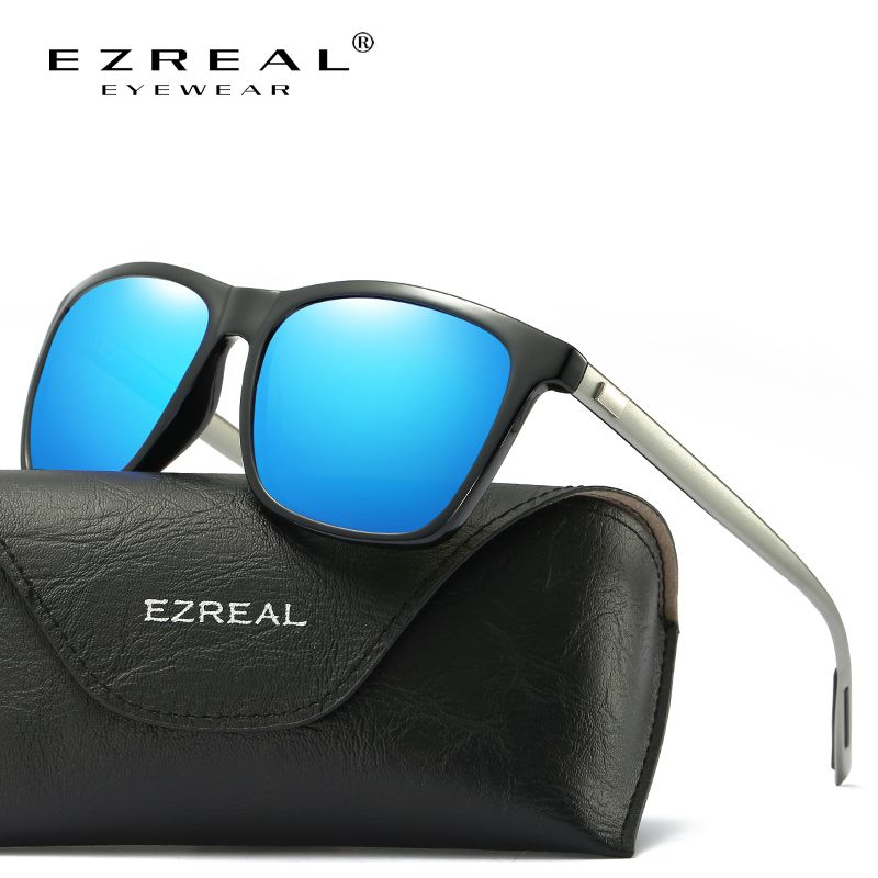 568217e5a509e Encontre mais Óculos de sol Informações sobre EZREAL Marca Clássicos Óculos  Polarizados Homens Condução Quadrado Preto Quadro Óculos Masculinos Óculos  de ...