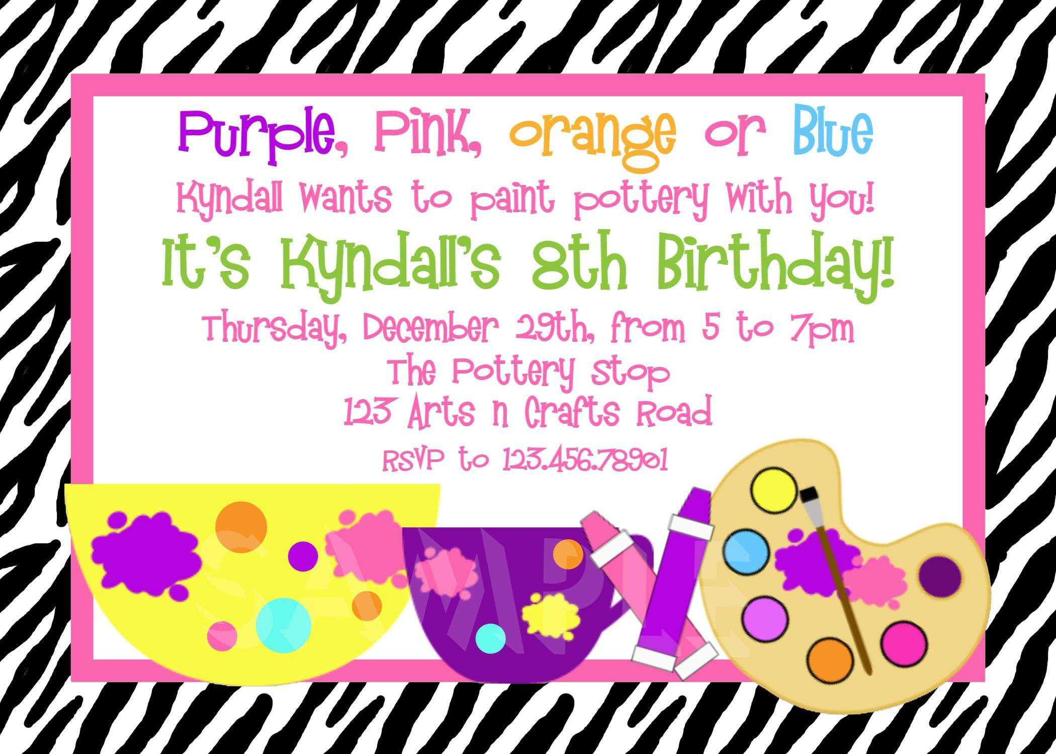 Image For 5th Birthday Invitation Wording