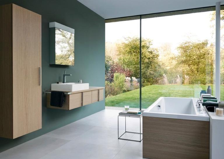 Wohnen mit Farben - Wandfarben fürs Badezimmer: Grüntöne wirken ...