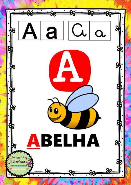 Alfabeto De Parede Formato A3 Com Os 4 Tipos De Letras Desenhos