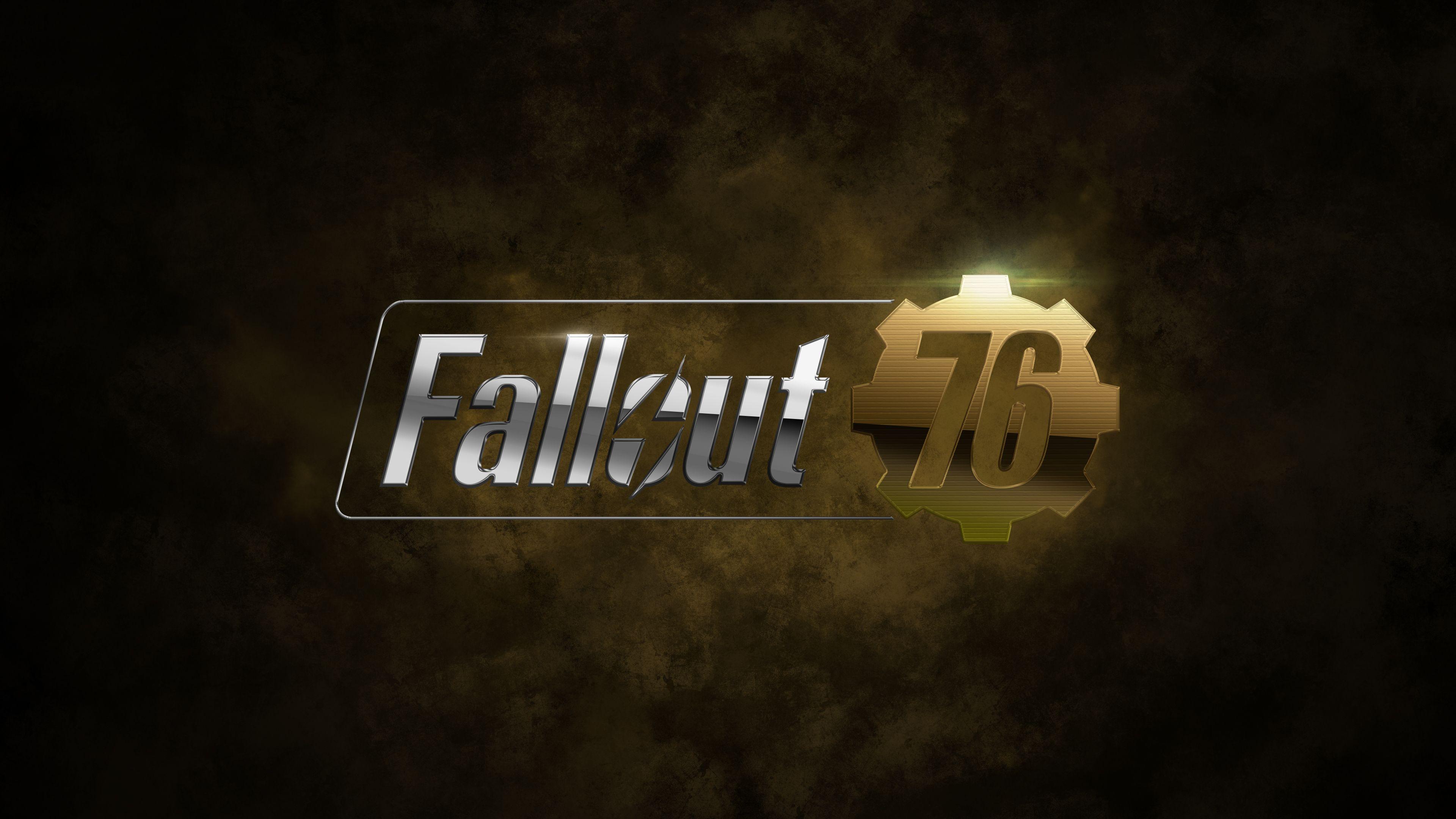 Fallout 76 Game Logo 4k Hd Wallpapers Games Wallpapers Fallout 76 Wallpapers Deviantart Wallpapers 4k Wallpap Fallout Wallpaper Game Logo Gaming Wallpapers