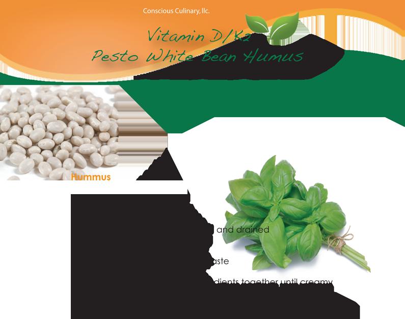 Vitamin D/K2 Pesto White Bean Hummus Recipe