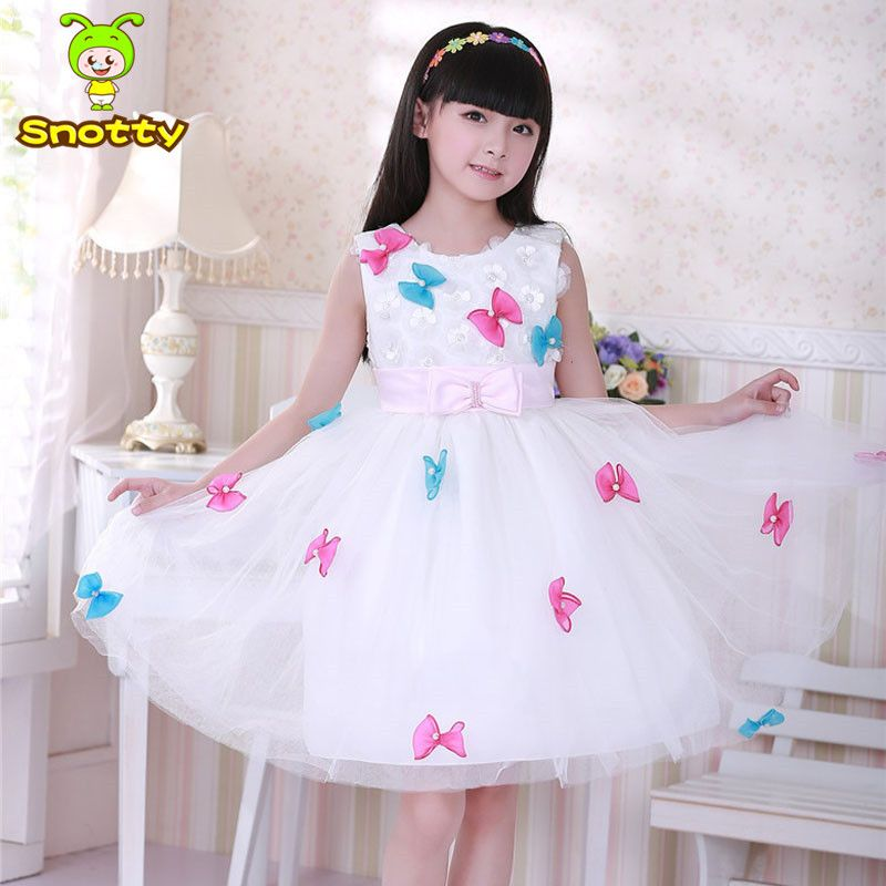 (Buy here: http://appdeal.ru/etp ) 2016 girl party dress white sleeveless kids party princess dress girls christmas dress kids clothes girls clothing SKD001488 for just US $57.70