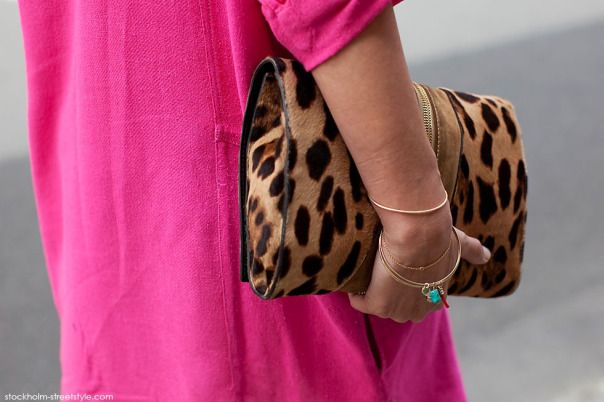 pink dress with leopard print shoes