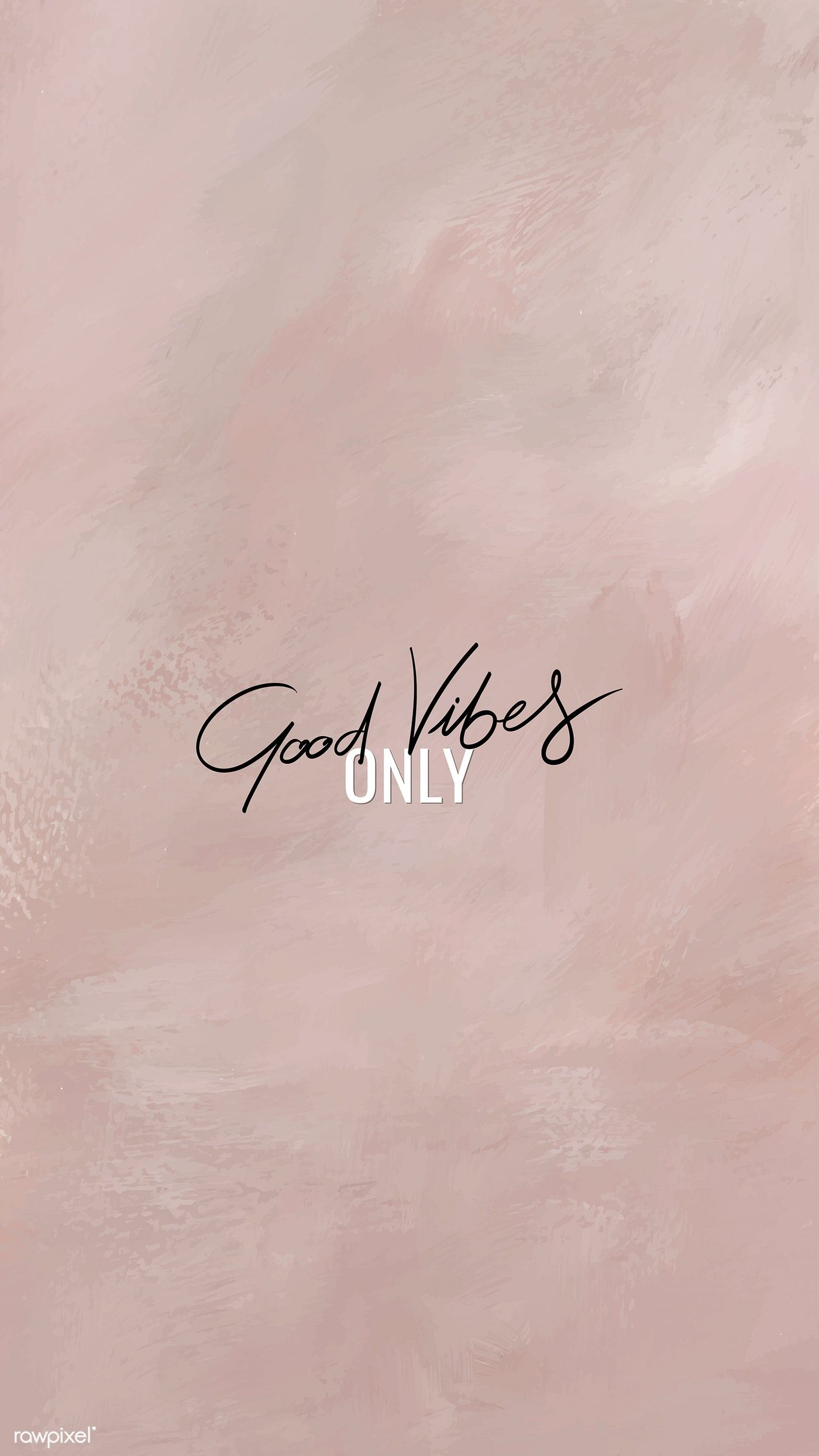 Good vibes only text mobile background vector free image