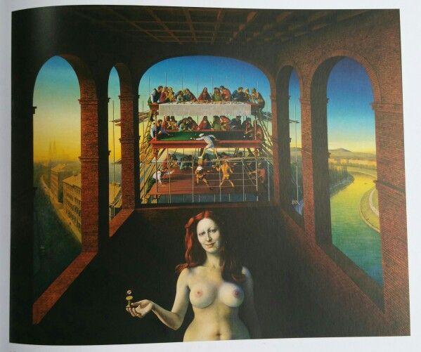 """""""Adam, der ungeliebte Sohn III"""" von Rudolf Hausner - 1986 - 1990 (Museum Würth 25.05.2015) - Dauerleihgabe Familie Hausner"""