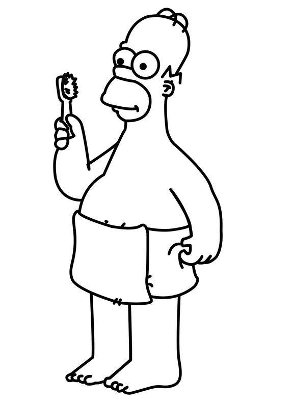 Immagine Homer Simpson Si Lava I Denti Disegni E Immagini Da