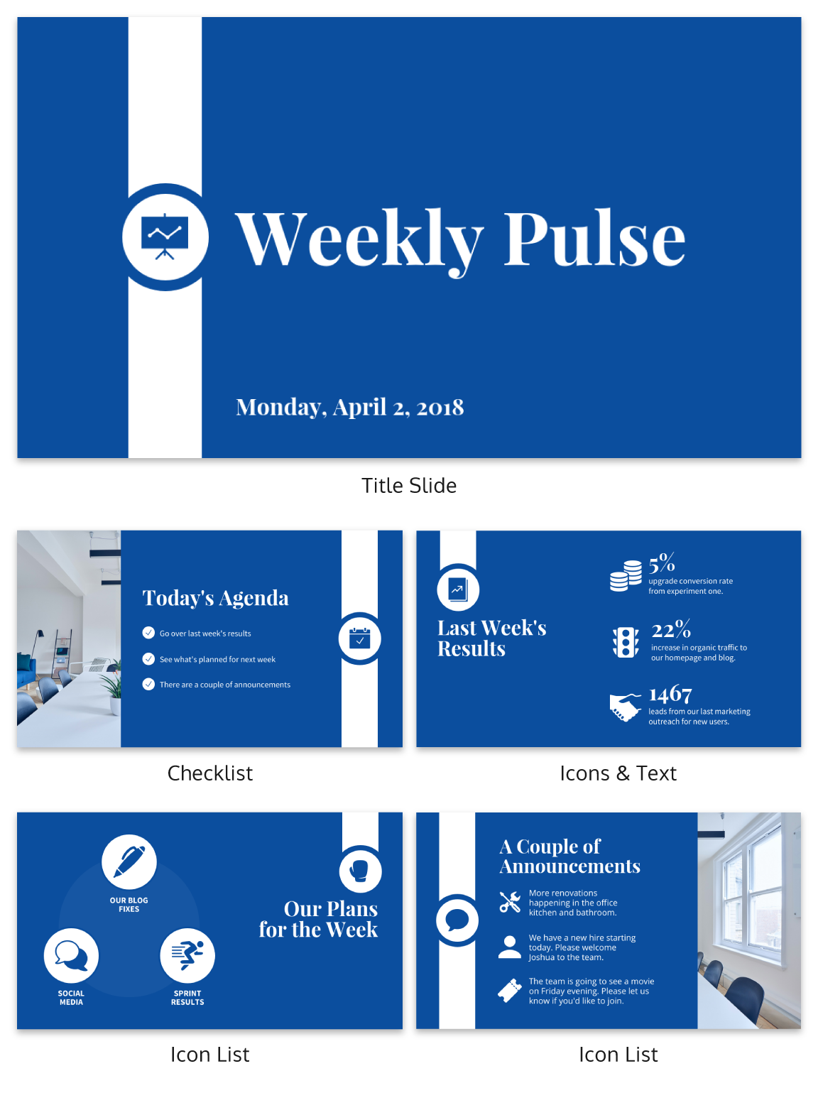 corporate pulse weekly update business presentation create your