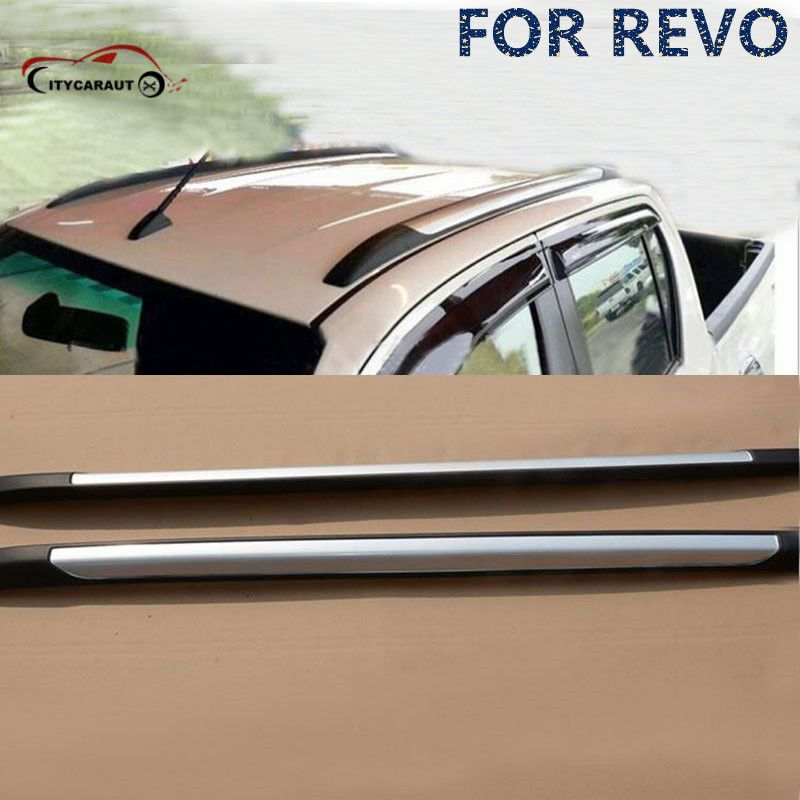 for Hilux REVO luggage bar roof rails rack side step foot