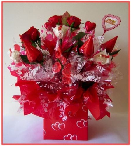 Happy Valentine S Day Candy Bouquet Our Combination Of Fruit Hard