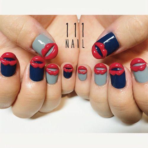 女子会👄🍸🍾👄👄✨💙 #Nail#art #nailart…