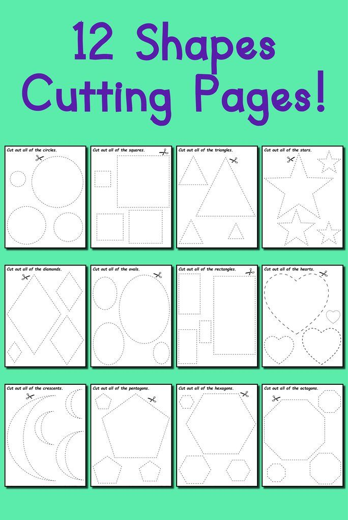 12 Printable Shapes Cutting Worksheets Printable Shapes