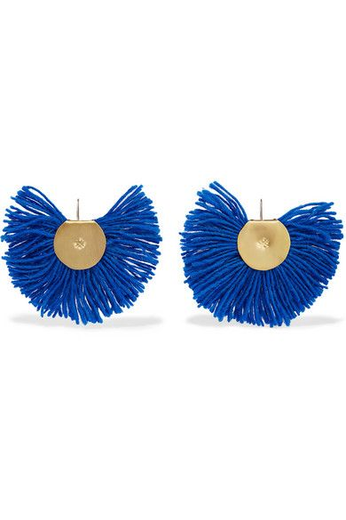 Hand Fan earrings - Metallic Katerina Makriyianni JRskGWpRz