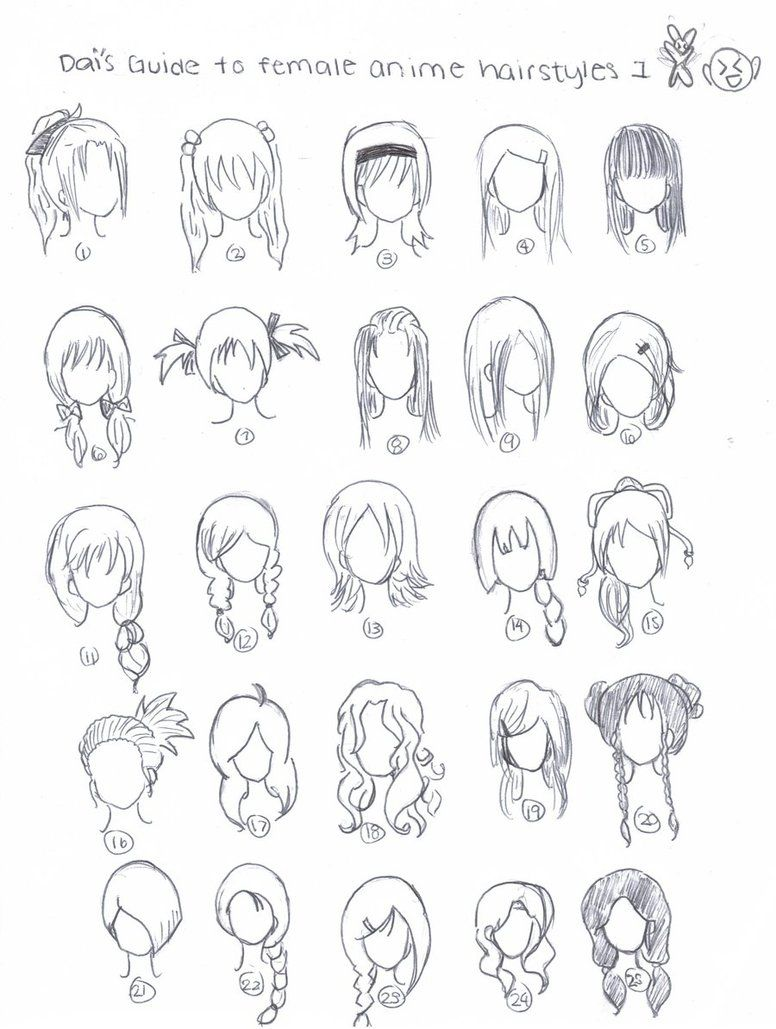 cute art hairstyles chibi anime
