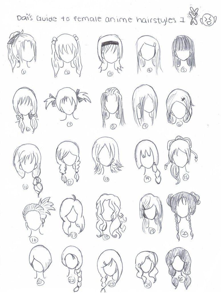 Cute art hairstyles Anime hair, How to draw hair, Manga hair