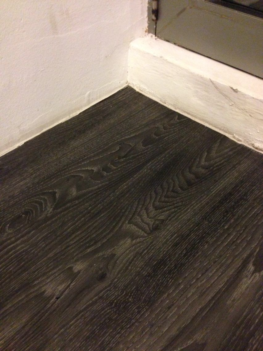 Vinyl Linoleum Flooring In Dark Wood Texture Flooring
