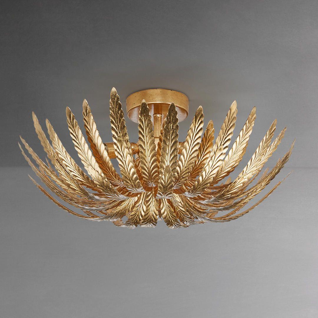 Mira Coastal Beach Marine Sea Glass Gold 3 Light Bowl Chandelier