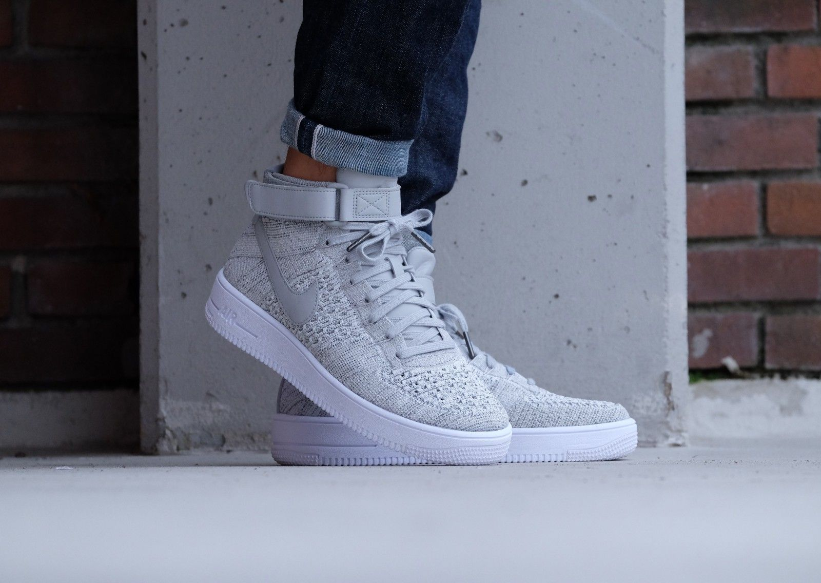 Nike Air Force 1 Ultra Flyknit Mid Wolf greywolf grey white