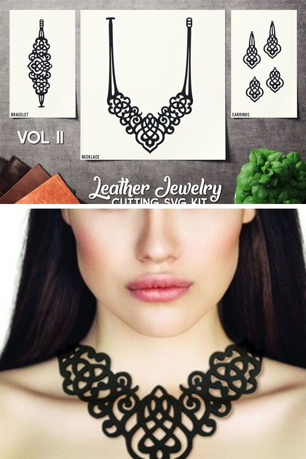 Photo of Leather Jewelry Cutting Template VOL 2 – SVG CUT FILES By SharpSVG | TheHungryJPEG.com