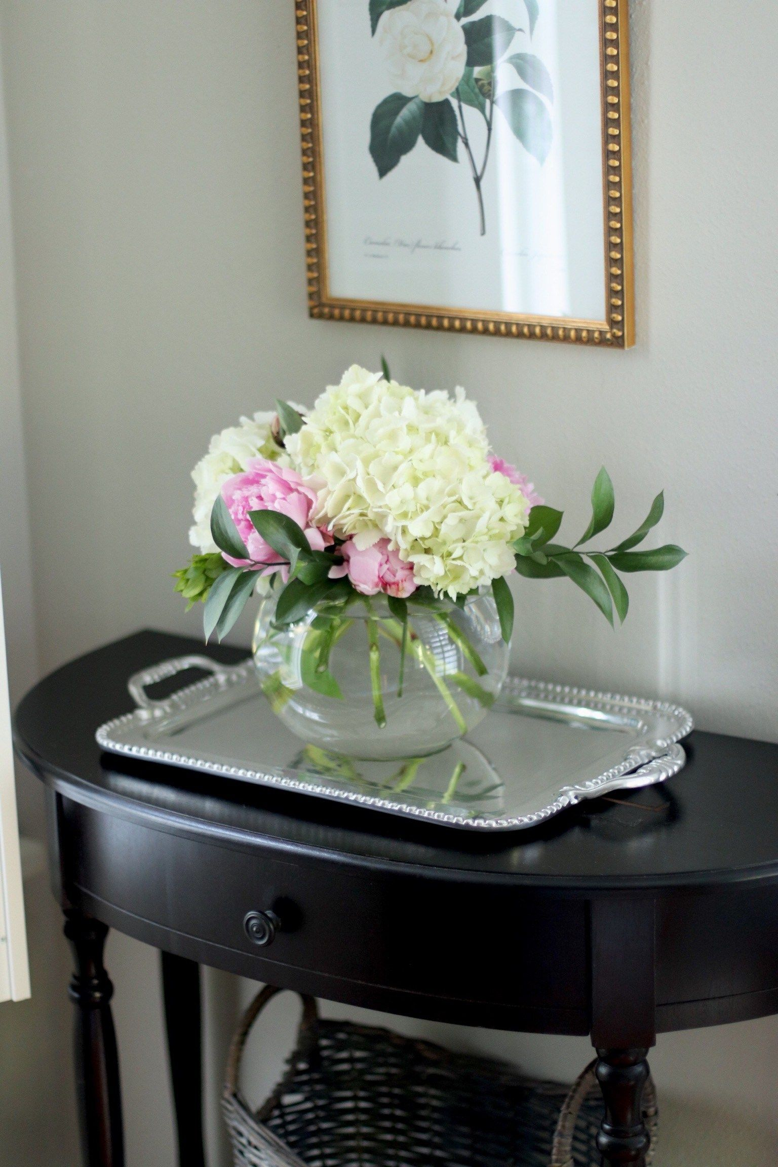 Peonies Hydrangea Diy Centerpiece - How To Make Your Own