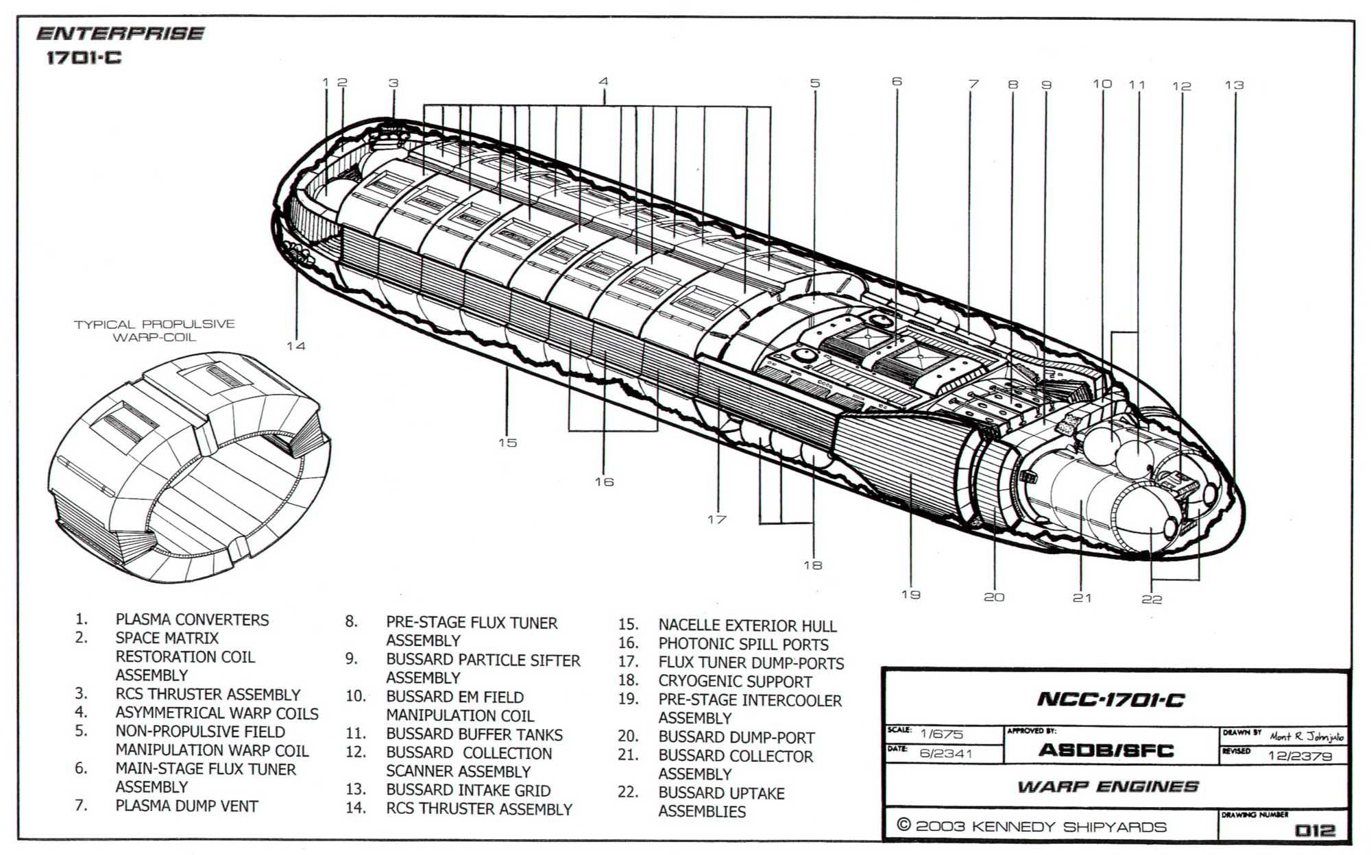 Schematic Of U S S Enterprise Ncc C Page Twelve
