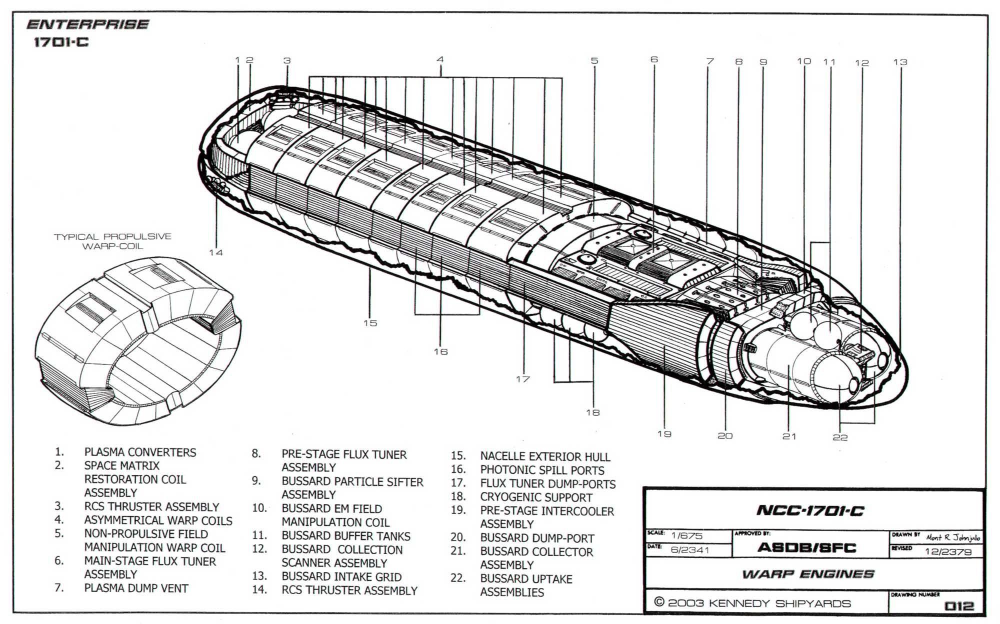 Schematic Of U S S Enterprise Ncc C Page Twelve
