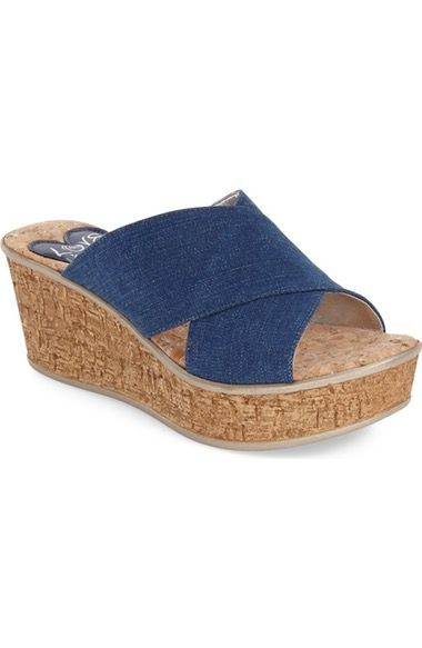 Love and Liberty 'Olga' Wedge Slide Sandal (Women) available at #Nordstrom