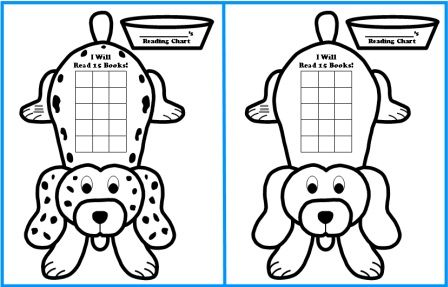 Free Sticker Chart Templates Dog Shaped Reading Sticker Charts For