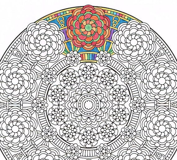 Mandala Coloring Page Crown of Gaia printable coloring page for