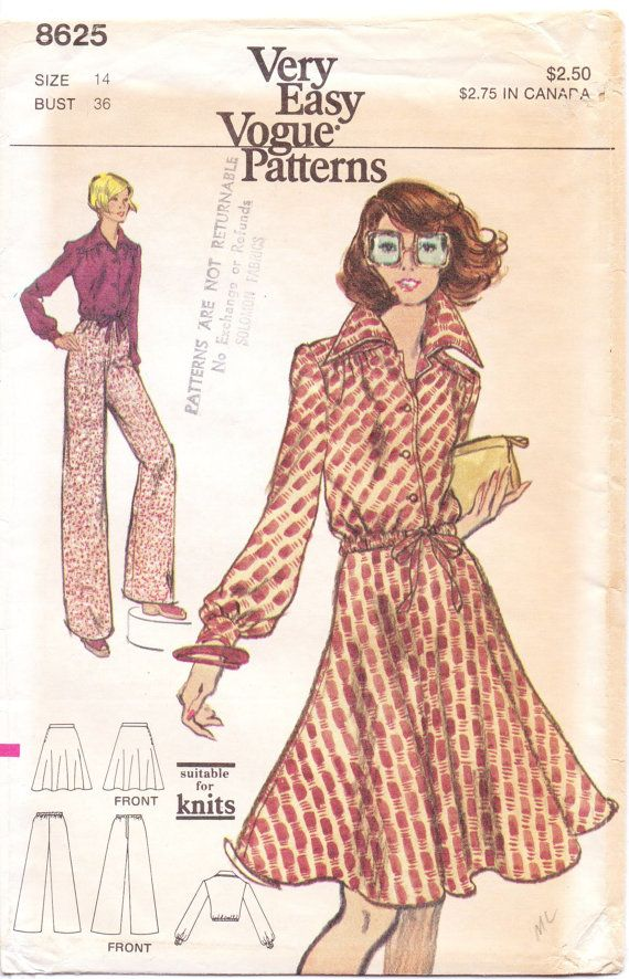 70s Very Easy Vogue Pattern 8625 Womens Jacket By Cloescloset
