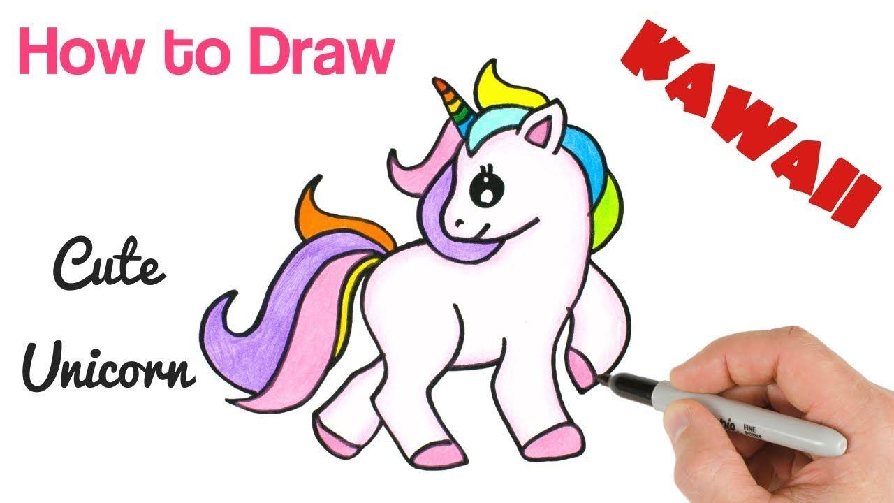 How To Draw Unicorn Cute Rainbow And Easy Unicorn Drawing