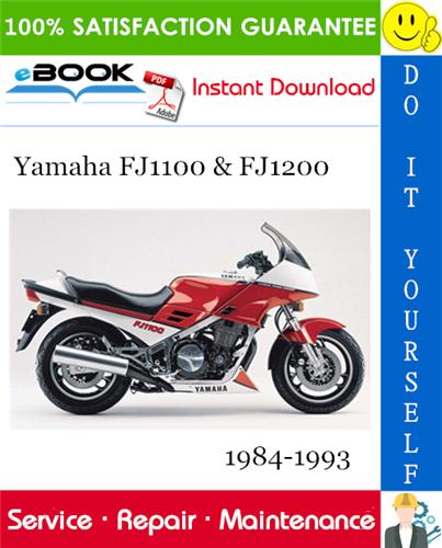 Yamaha Fj1100 Fj1200 Motorcycle Service Repair Manual 1984 1993 Download Repair Manuals Repair Yamaha